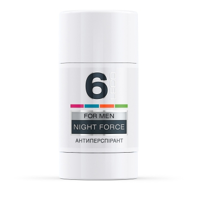 LECO Дезодорант-антиперспирант NIGHT FORCE, 6 for men