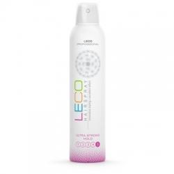 Лак для волос  LECO, ультрасильная фиксация ( 5 ) 300 мл (XL 20003)