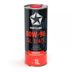 Трансмиссионное масло 80W-90 GL 3/4/5 Verylube 1 л (ХВ 20176)