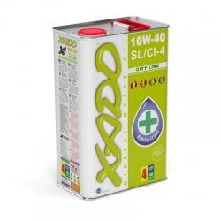 Минеральное моторное масло 10W-40 SL/CI-4 City Line XADO Atomic Oil  1 л (XA 20112)