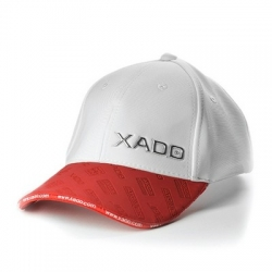 Бейсболка XADO (біла з червоним)