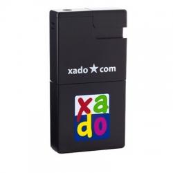 Газова запальничка-попільничка з логотипом «XADO», 80х40х14 мм черный (РП 10011)