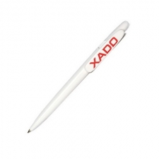 Ручка XADO біла, з червоним логотипом