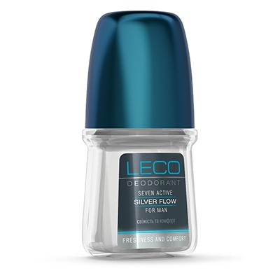 Дезодорант-антиперспірант LECO Seven Active Silver Flow for men