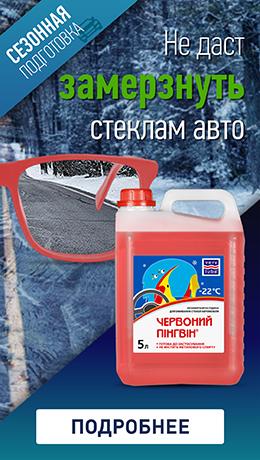 """Незамерзающий омыватель стекол для автомобиля """"Красный пингвин"""" -22 ⁰С"""