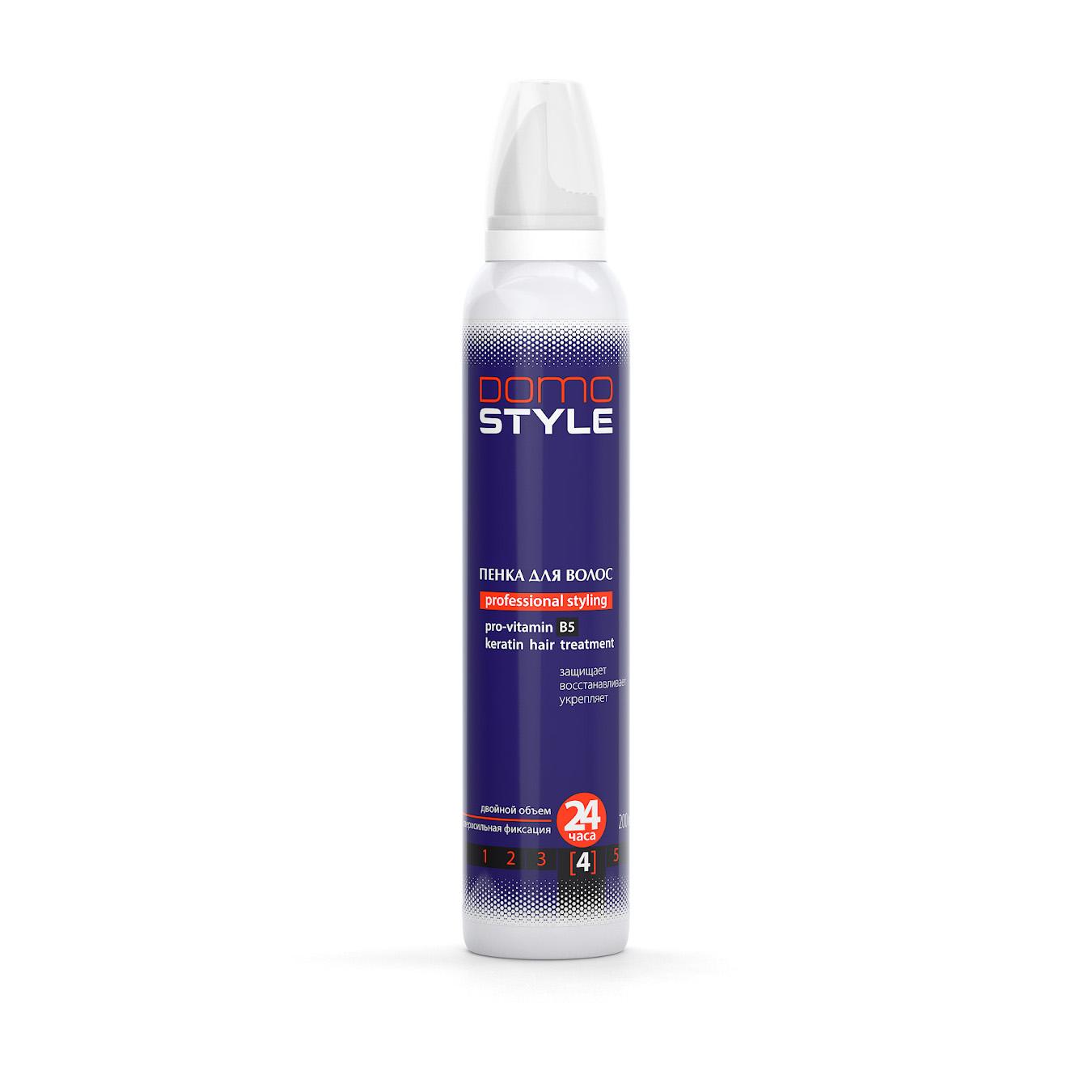 Domo Style 4 - пенка для волос, сверхсильная фиксация (200мл) XD 20005